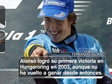 Fernando Alonso logró su primera victoria en Hungaroring