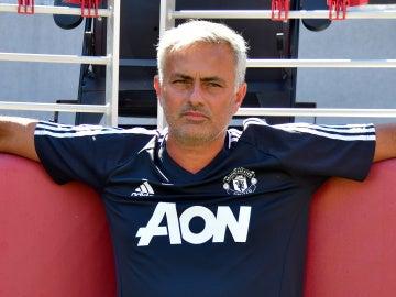Mourinho, relajado durante la pretemporada del United