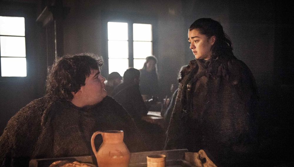 Hot Pie y Arya Stark en 'Juego de Tronos'