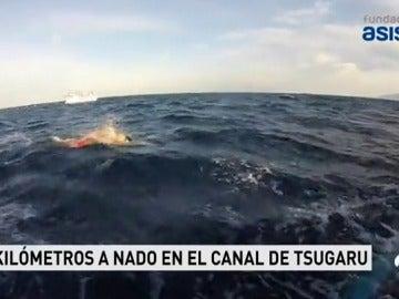 Jorge Crivillés se convierte en el primer español en cruzar a nado el Canal de Tsugaro, en Japón