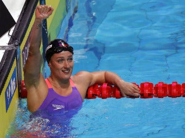 Mireia Belmonte, tras ganar el Oro en la prueba de los 200 metros mariposa