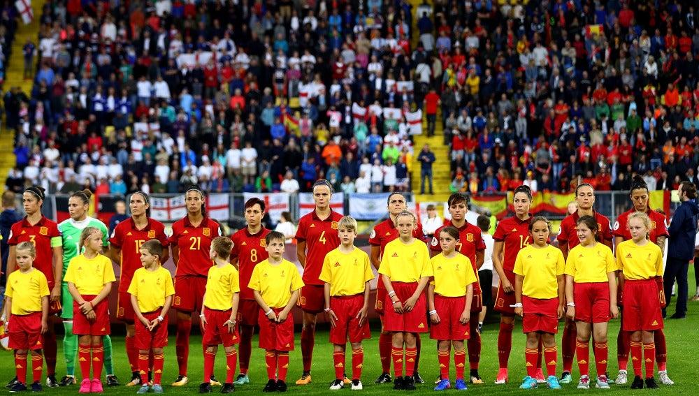 España durante un partido