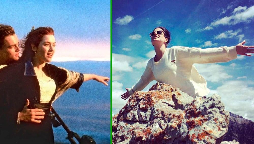 Noemí Ruiz a lo Kate Winslet en sus vacaciones