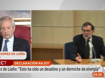 """El abogado Javier Gómez de Liaño valora la declaración de Rajoy """"irrelevante"""" desde el punto de vista jurista"""