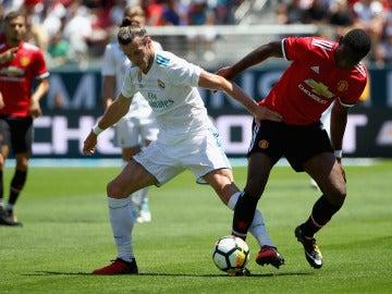 Gareth Bale, durante el partido contra el Manchester United