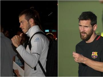 Bale y Messi, en Miami para el primer Clásico de la temporada