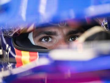 Carlos Sainz durante los entrenamientos libres