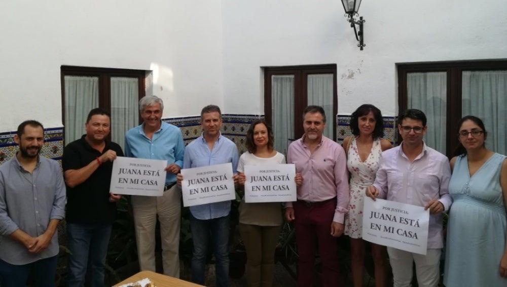 Manifestación a favor de Juana