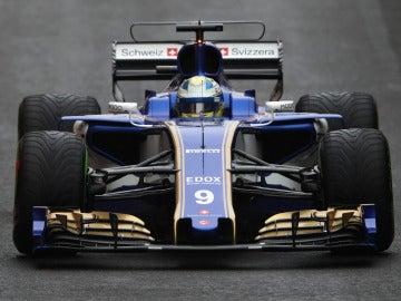 Marcus Ericsson, durante el GP de Gran Bretaña