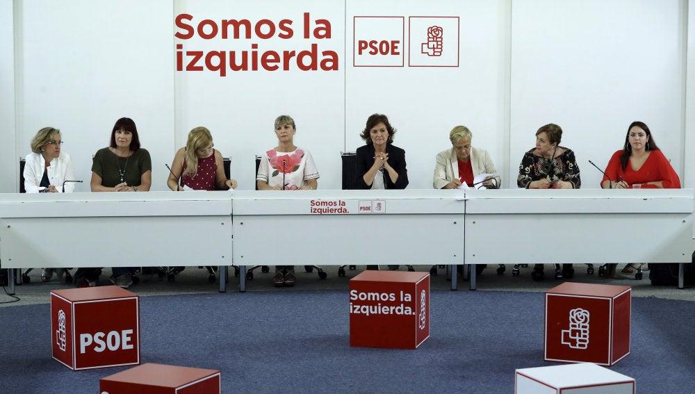 Reunión del PSOE sobre la violencia machista