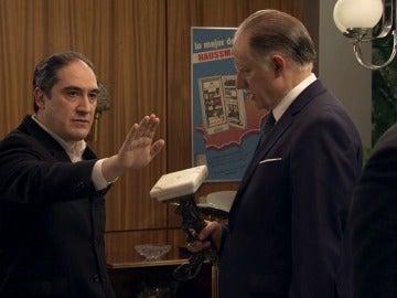 Félix y Caldas en la escena del crimen