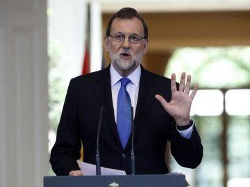 Mariano Rajoy ante los medios de comunicación