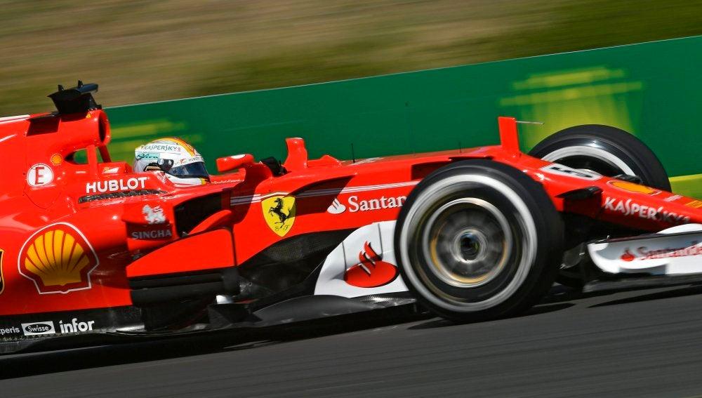 Vettel en el GP de Hungría