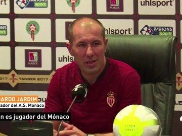 """Leonardo Jarlim, entrenador del Mónaco: """"Mbappé es jugador del Mónaco"""""""