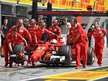 Sebastian Vettel en GP de Hungría