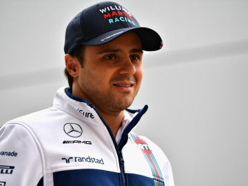 Felipe Massa, antes de una sesión con Williams