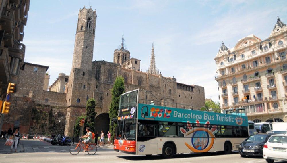 Bus turístic en Barcelona