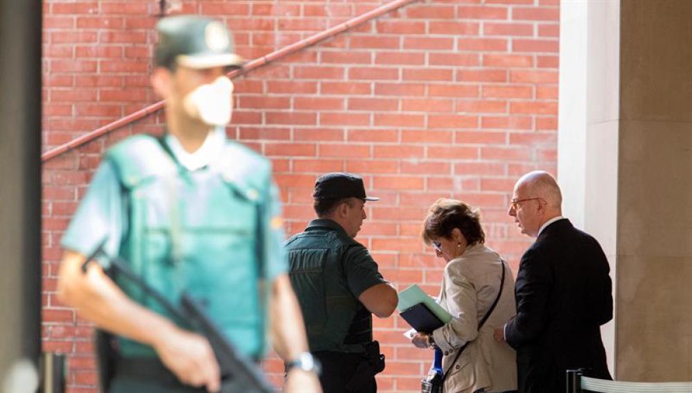 Guardia Civil en la Comandancia de Grácia, en Barcelona