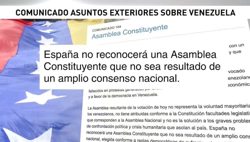 Dastis asegura que España no reconocerá los resultados de la Constituyente venezolana