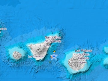 Tres terremotos en menos de seis horas en Tenerife