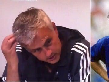 Mourinho en rueda de prensa refiriéndose a Conte