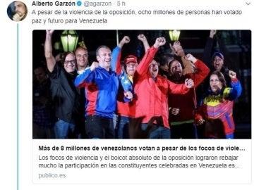 Tuits de Garzón
