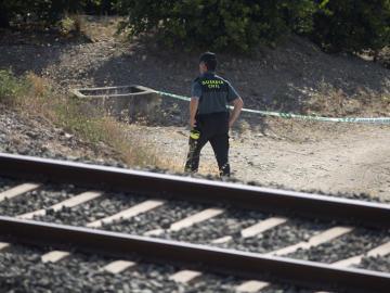 Vía del tren donde apareció muerta Lucía Vivar
