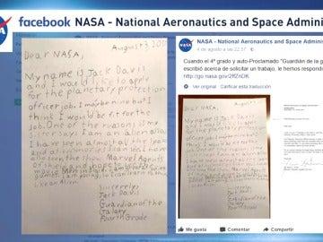 Un niño de nueve años solicita a la NASA el puesto de 'oficial de protección planetaria'