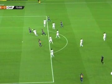 Denis Suárez resuelve tras un pase de Messi y marca el quinto gol ante el Chapecoense
