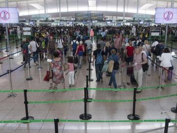 Huelga en el aeropuerto de El Prat
