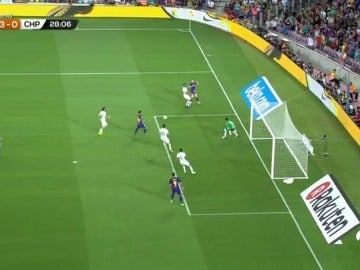 Messi hizo el tercer gol contra el Chapecoense tras un pase de Deulofeu