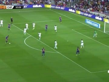 Busquets anota el segundo tanto para el Barcelona con un golazo por la escuadra