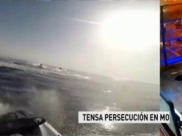 Persecución de película en aguas del Estrecho de Gibraltar