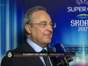 """Florentino: """"No creo que tenga cabida otro delantero, tenemos muy buenos jugadores"""""""