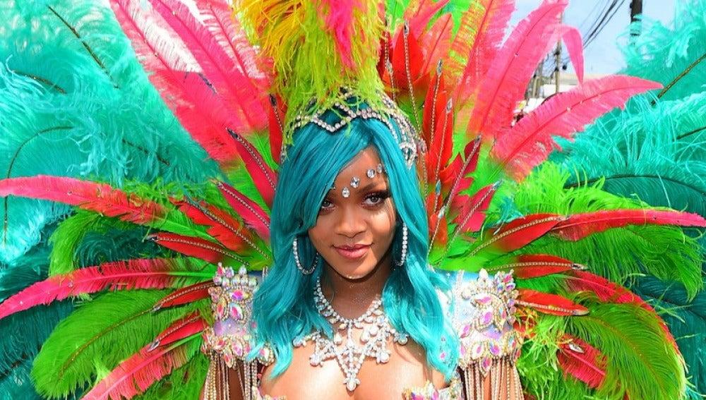 Rihanna en el Crop Over de Barbados 2017