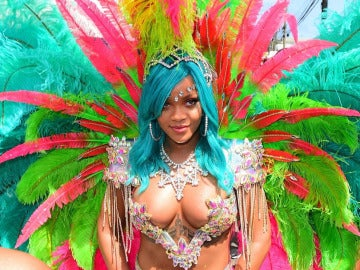 Rihanna en el Crop Over de Barbados 2017