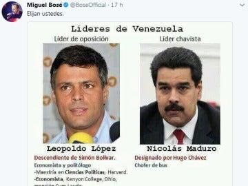 Tuit de Miguel Bosé