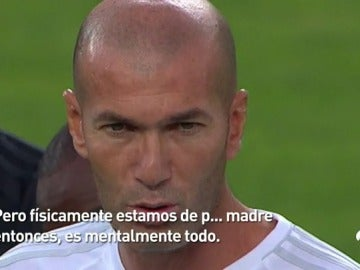 El mensaje de Zidane a sus jugadores antes de la final de la Supercopa de Europa