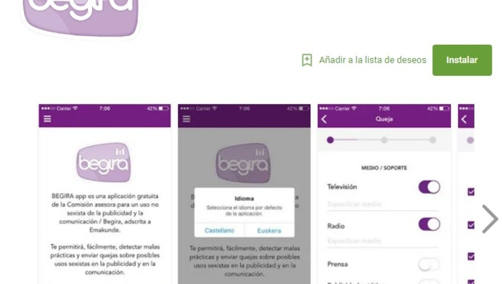 Begira App, para denunciar contenido sexista en los medios