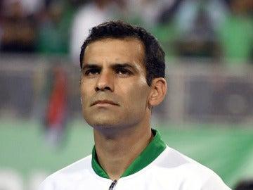 Rafa Márquez, antes de jugar un partido con México