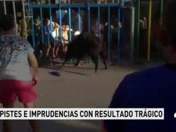Un joven, grave tras ser cogido en los 'bous al carrer' de Calpe