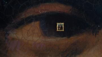 En cuadro en la pupila de la Mona Lisa