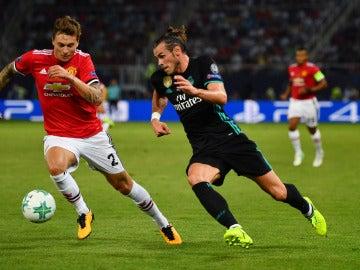 Gareth Bale, en la final de la Supercopa de Europa