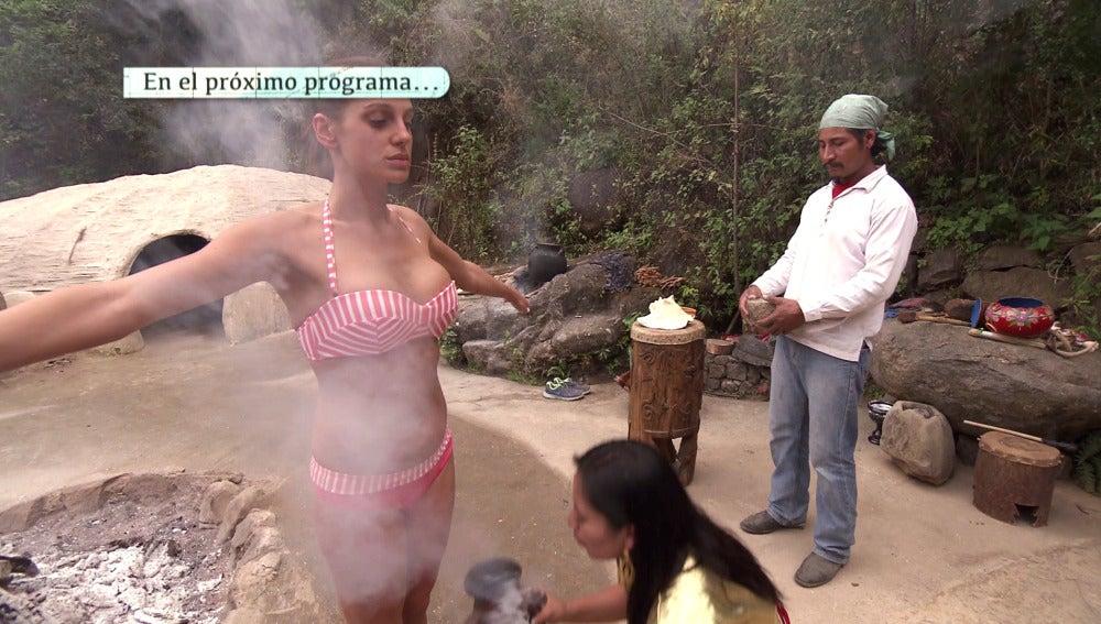 Zalma en pleno ritual mexicano