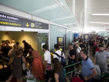 Colas en el Aeropuerto de El Prat-Barcelona