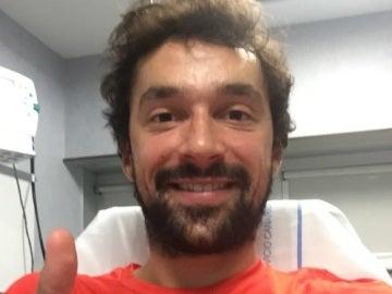 Sergio Llull, tras sufrir su grave lesión de rodilla