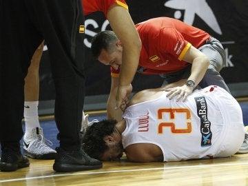 Sergio Llull se duele tras romperse el cruzado
