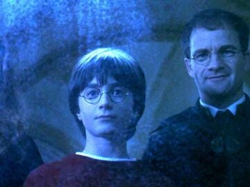 Harry con Lilly y James Potter