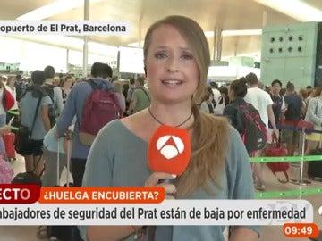 Un total de 40 trabajadores de seguridad de El Prat de baja por enfermedad