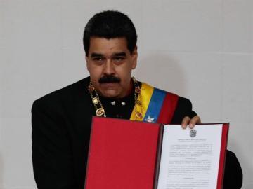 Maduro en un acto de la Asamblea Nacional Constituyente